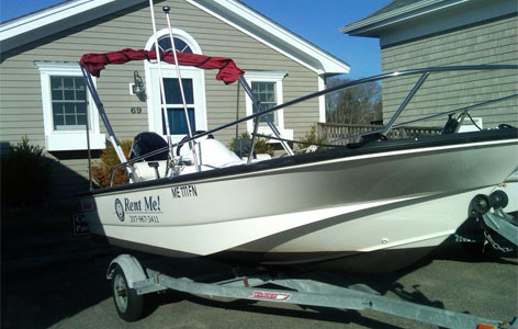 Boston Whaler 15 Foot Sport – 60 HP Mercury Engine