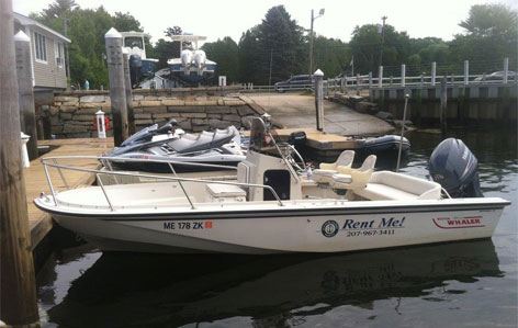 Boston Whaler 15 Foot Sport - 60 HP Mercury Engine