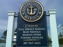 Kennebunkport Marina Sign